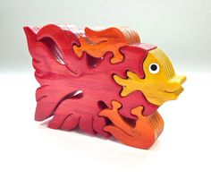 Beta Fish Wooden Animal Puzzle Wood Puzzle by PuzzleFriends, $9.99