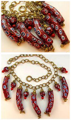 Venetian glass beads necklace.