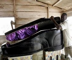 Shoe coffin-Ghana weird caskets