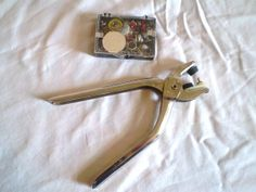 Vintage Snap Pliers and box of Snaps by jclairep on Etsy, $10.00