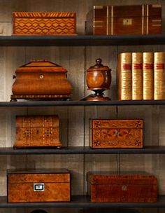 I collect souvenir wooden boxes and have some carved and woodburnt as well.