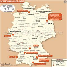 Deutschland Reise Karte