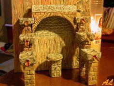Tutorial de una fuente historiada – Nacimiento en Belén Coolpix, Painting, Home Decor, Pinwheel Tutorial, Fonts, Nativity Scenes, Crates, Birth, Projects