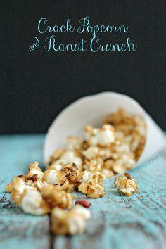 Crack Popcorn & Peanut Crunch   A Hint of Ginger How Sweet Eats, Popcorn, Cravings, Breakfast, Desserts, Blog, Morning Coffee, Tailgate Desserts, Deserts