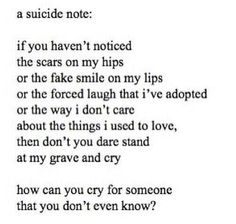 How can you cry for someone that you don't even know?