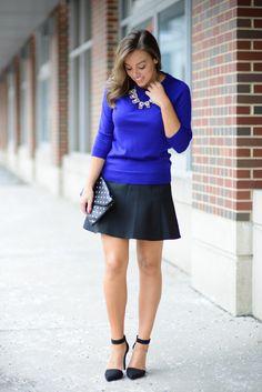 J.Crew Fluted Skirt + Tippi Sweater