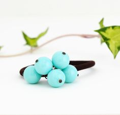 Beaded Hair Elastic with Turquoise Beads