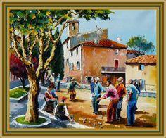 La partie de boules par Christian Jequel, artiste provençal...    http://mistoulinetmistouline.eklablog.com/