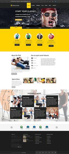 Fitness WordPress Theme - Health  ☺  ✿  ☺