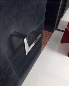 Toallero Aro de pared en latón cromado.