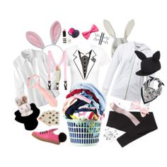 Check out these creative Halloween costume DIY ideas for men and women, which are already in your closet (just in case you waited until the last minute). Creative Halloween Costumes, Diy Costumes, Halloween Diy, Just In Case, American Eagle Outfitters, Rabbit, Magic, Hat, Brooks Brothers