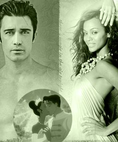 Disney DreamCast--Gilles Marini as Naveen; Zoe Saldana as Tiana (Princess and the Frog)