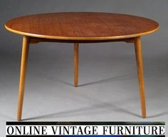 RARE 1950s Hans Wegner Heart tripod table teak round mid century midcentury mid-century designer danish modern retro atomic vintage