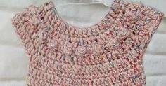 Tutoriales paso a paso y consejos de tejido Vestidos Bebe Crochet, Toddler Dress, Crochet Baby, Baby Kids, Crochet Necklace, Pullover, Stitch, Knitting, Fashion