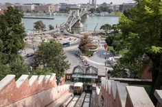 FUNICULAR OF BUDA CASTLE The tiny cars – Margaret and Gellert – of the Funicular of Buda Castle since 1870 serve diligently, no, originally not the tourist, but the clerks were working in Buda Castle. Buda Castle, Budapest, Opera House, Bugs, Building, Travel, Construction, Trips, Buildings