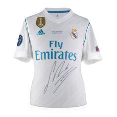 8429d9b519e Sergio Ramos Signed 2017-18 Real Madrid Home Shirt