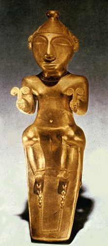 Quimbaya culture (Colombia)--cast gold figurine