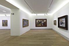 Edificio de Ampliación, sala 17, con obra de Joaquín Sorolla y otros artistas luministas. Fotografía: Marcos Morilla.