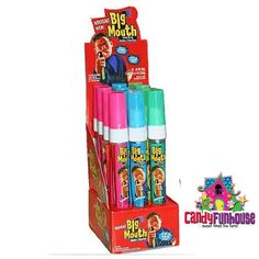 Sour Big Mouth Candy Spray | Sour Candy from Topps Jojo Juice, Cute Braces Colors, Free Halloween Coloring Pages, Ariel Cake, Nostalgic Candy, Chocolate Lovers, Chocolate Coffee, Online Candy Store, Fun Dip