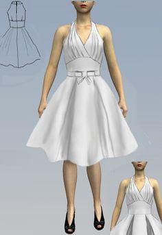 1950s Mock Halter Dress by Amber Middaugh 2016