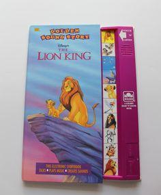 Vintage Walt Disney's Lion King Sound Story 1994 by WylieOwlVintage on Etsy https://www.etsy.com/listing/518110667/vintage-walt-disneys-lion-king-sound