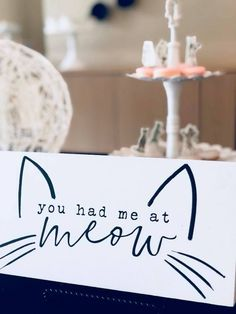 A Purrfect Pawty Kitty Cat Birthday Party You had me at meow print + . - The Best Cat Party Ideas Cat Themed Parties, Birthday Party Themes, Birthday Ideas, Birthday Party For Cats, Grumpy Cat Birthday, 8th Birthday, Birthday Cakes, Kitten Party, Birthday Girl Pictures