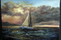 Watch as Kevin paints this sailboat in a stormy ocean. You can also create your own seascape painting at home! Go to www.paintwithkevin.com for instructional DVDs, brushes and paint.
