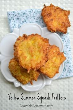 Yellow Summer Squash Fritters | Leave No Leftovers