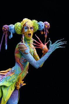 The World Bodypainting Festival Turns the Human Body Into a Colorful Canvas – Body Painting World Bodypainting Festival, Ephemeral Art, Arte Pop, Woman Painting, Face Art, Body Art Tattoos, Art Forms, Human Body, Bunt