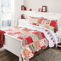 ec32edd6c4ca Amazon.com  Printed Quilt Coverlet Set Twin(68