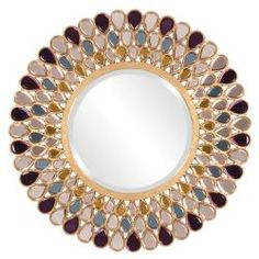 @Overstock - Add a stylish touch to any space with his mirror. A jewel-inspired frame highlights this Grace mirror.   http://www.overstock.com/Home-Garden/Grace-Mirror/6765749/product.html?CID=214117 $521.99