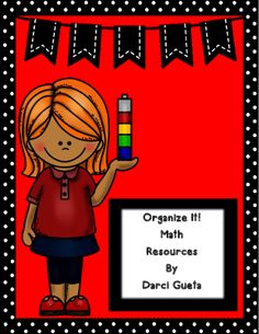 Organize It!  Math from Darci Gueta on TeachersNotebook.com -  (56 pages)  - This unit includes everything you need to organize your math area!