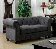 Stanford Chesterfield Inspired Tufted Love Seat #CM6269LV