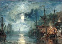 """""""Shields, on the River Tyne"""" by J.M.W. Turner"""