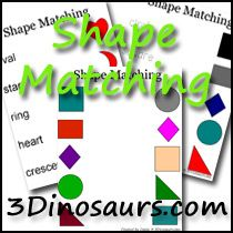 A great collection of FREE printables on Shapes - colouring, puzzles, cut and trace, matching, writing and cards