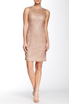 Adrianna Papell | Metallic Lace Sequin Sheath Dress | Nordstrom Rack