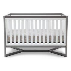 "Delta Children Tribeca Convertible Crib - White/Gray - Delta - Babies""R""Us Contemporary Cribs, Modern Crib, All Modern, Headboard And Footboard, Headboards For Beds, 4 In 1 Crib, Delta Children, Future Children, Convertible Crib"