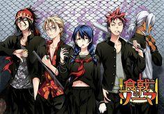 Anime Food Wars: Shokugeki No Soma  Ryō Kurokiba Takumi Aldini Megumi Tadokoro Sōma Yukihira Akira Hayama Shokugeki No Soma Wallpaper