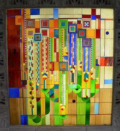 Frank+lloyd+Wright+windows | Frank Lloyd Wright design stained glass window - Arizona Biltmore ...