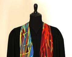 """Check out this beautiful handmade Clergy Stole. Everglades #158, Pastor Stole, Minister Stole, 54"""" Length, Pastor Gift, Vestments, Preaching Stole"""