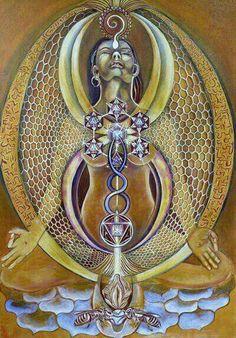 Honey Bee Temple by Melissa Shemanna Geometry Art, Sacred Geometry, Tarot, Esoteric Art, Psy Art, Sacred Feminine, Divine Feminine, Goddess Art, Ancient Symbols