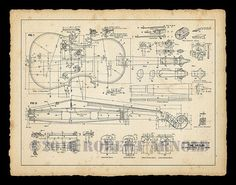 """Color Print of a 19th Century Violin Maker's Plans - 11"""" x 14"""" on Etsy, $16.89 AUD"""