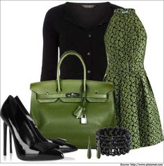 Green dress and green bag leather bags for women  #leatherbagsforwomen #leatherbags #womenbags