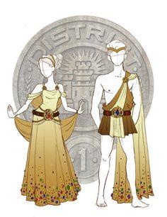 vestimenta de distrito 1