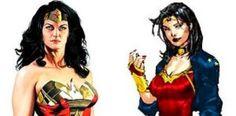 Alex Ross' classic Wonder Woman versus the new Jim Lee version.