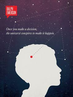 Ralph Waldo Emerson - Minimalist Illustration – Design Different