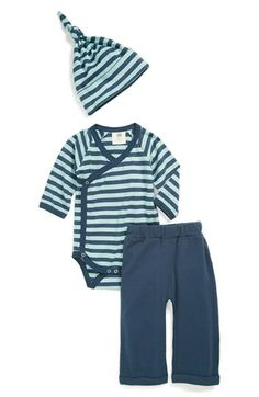 Kate Quinn Organics Bodysuit, Pants & Hat (Baby Boys) available at #Nordstrom