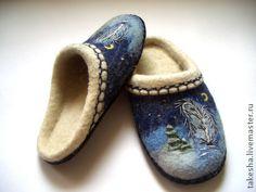 """Обувь ручной работы. Ярмарка Мастеров - ручная работа Тапочки """"Зима"""". Handmade."""