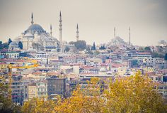 Istanbul skyline with Sehzade & Fatih mosques by miemo, via Flickr