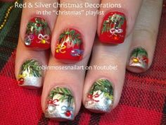 Nail Art Tutorials | DIY Christmas Nail art! | Xmas Ornaments Nail Design - http://www.nailtech6.com/nail-art-tutorials-diy-christmas-nail-art-xmas-ornaments-nail-design/